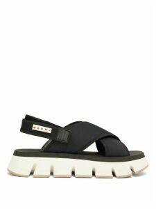 Marni - Fussbett Neoprene Slingback Sandals - Womens - Black