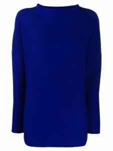 Daniela Gregis stand up collar jumper - Blue