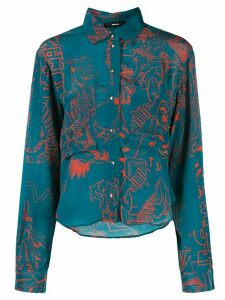Diesel embroidered fitted shirt - Blue