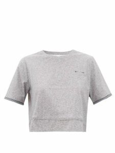 The Upside - Whitney Cropped Stretch-technical T-shirt - Womens - Grey