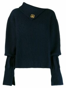 JW Anderson asymmetric ribbed jumper - Blue