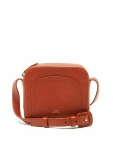 A.P.C. - Louisette Smooth-leather Cross-body Bag - Womens - Brown