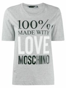 Love Moschino logo print crew neck T-shirt - Grey
