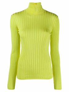 Nina Ricci logo embroidered turtleneck sweater - Green
