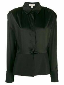 Matériel long-sleeved peplum shirt - Black