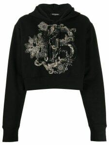 Balmain B embellished hoodie - Black