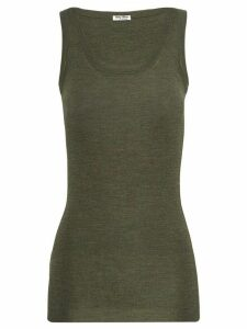 Miu Miu ribbed knit vest top - Green