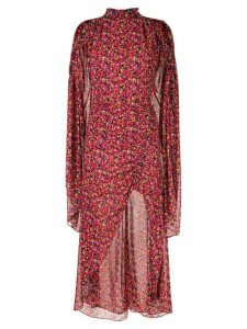 CAMILLA AND MARC Lilia floral ruched dress - Red