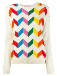 Chinti and Parker chevron stripe jumper - NEUTRALS