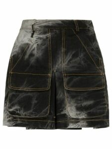 Matthew Adams Dolan dyed mini skirt - Black