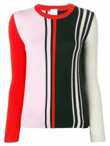 Paul Smith colour block sweater - PURPLE