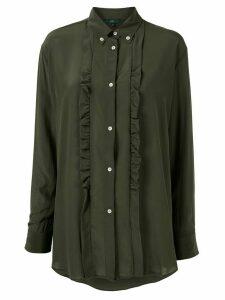 Jejia ruffle long-sleeve shirt - Green