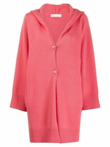 Fabiana Filippi hooded cardigan - PINK