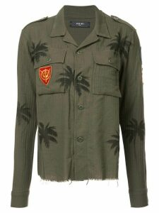AMIRI palm-print military shirt - Green