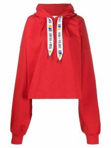 Reebok By Pyer Moss drawstring logo oversized hoodie - Red
