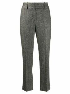 Ermanno Scervino herringbone cropped trousers - Black