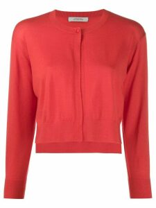 Dorothee Schumacher cropped fitted cardigan - ORANGE