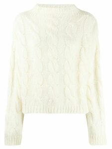 Roseanna cable knit jumper - White