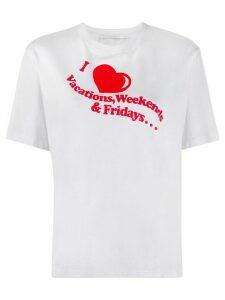 Victoria Victoria Beckham I Heart Weekends print T-shirt - White