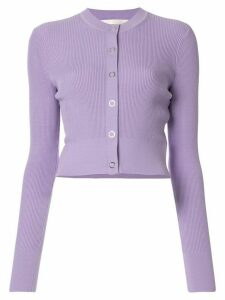 Dion Lee Pinnacle ribbed cardigan - PURPLE