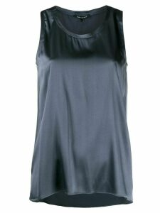 Luisa Cerano sleeveless flared top - Blue