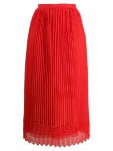 Marco De Vincenzo high-waist pleated skirt - Red