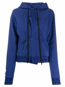 UNRAVEL PROJECT Official B Terry Pintuck hoodie - Blue