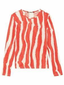 Proenza Schouler striped longsleeved T-shirt - ORANGE