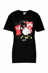 Womens Disney Minnie & Mickey 1928 Graphic T-Shirt - Black - S, Black