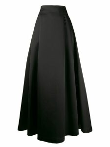 Styland pleated maxi skirt - Black