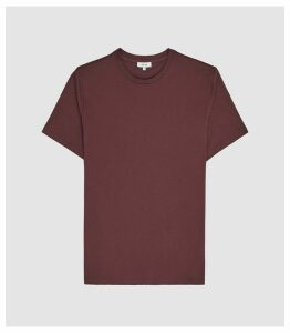 Reiss Bless - Regular Fit Crew Neck T-shirt in Bordeaux, Mens, Size XXL