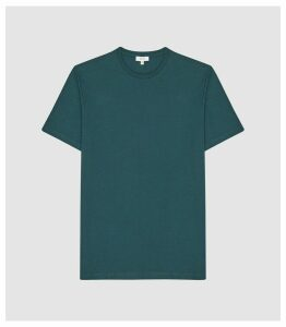 Reiss Bless - Regular Fit Crew Neck T-shirt in Teal, Mens, Size XXL