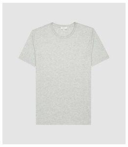 Reiss Bless - Regular Fit Crew Neck T-shirt in Grey Marl, Mens, Size XXL
