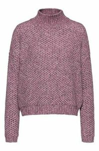 Relaxed-fit sweater with honeycomb-knit structure
