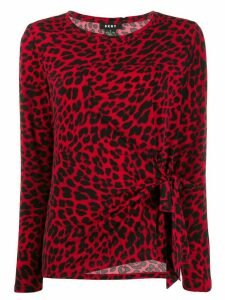 DKNY leopard print blouse - Red