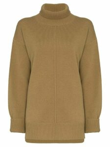 Joseph turtleneck oversized jumper - Green