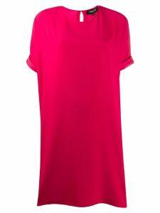 Paule Ka boxy fit turn up cuff shift dress - Red