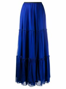 Federica Tosi tiered long maxi skirt - Blue