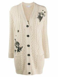 RedValentino embroidered cardigan - NEUTRALS