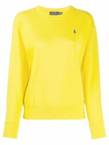 Polo Ralph Lauren oversized logo-embroidery sweatshirt - Yellow