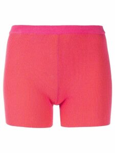 Jacquemus Arancia two-tone knitted shorts - PINK
