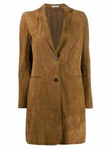 P.A.R.O.S.H. suede coat - Brown