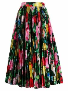 Richard Quinn floral print pleated skirt - Black