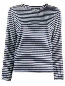 A.P.C. striped-print buttoned top - Blue