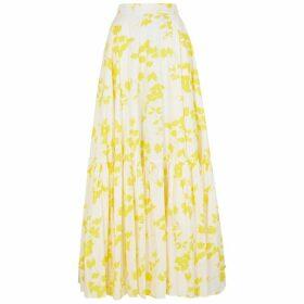 Plan C Floral-print Cotton Maxi Skirt