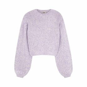 Baum Und Pferdgarten Lilac Cut-out Cotton-blend Jumper