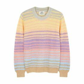 Mads Nørgaard Kashy Striped Chunky-knit Jumper