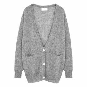 American Vintage Grey Knitted Alpaca-blend Cardigan
