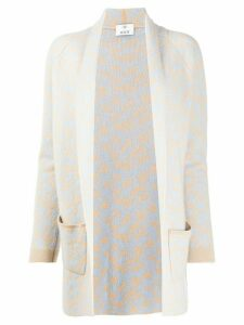 Allude open front cardigan - NEUTRALS