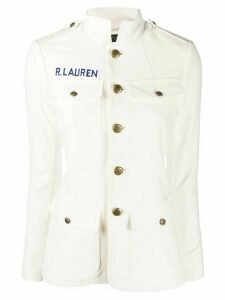Polo Ralph Lauren fitted stand up collar jacket - White